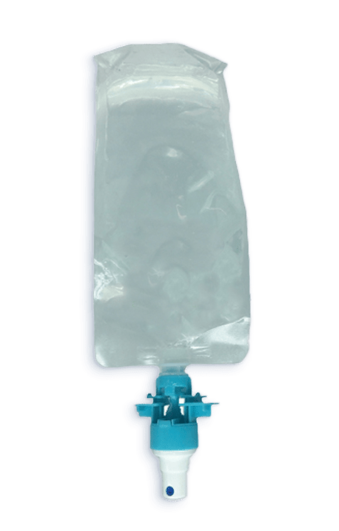 Empty pouch for wall dispenser