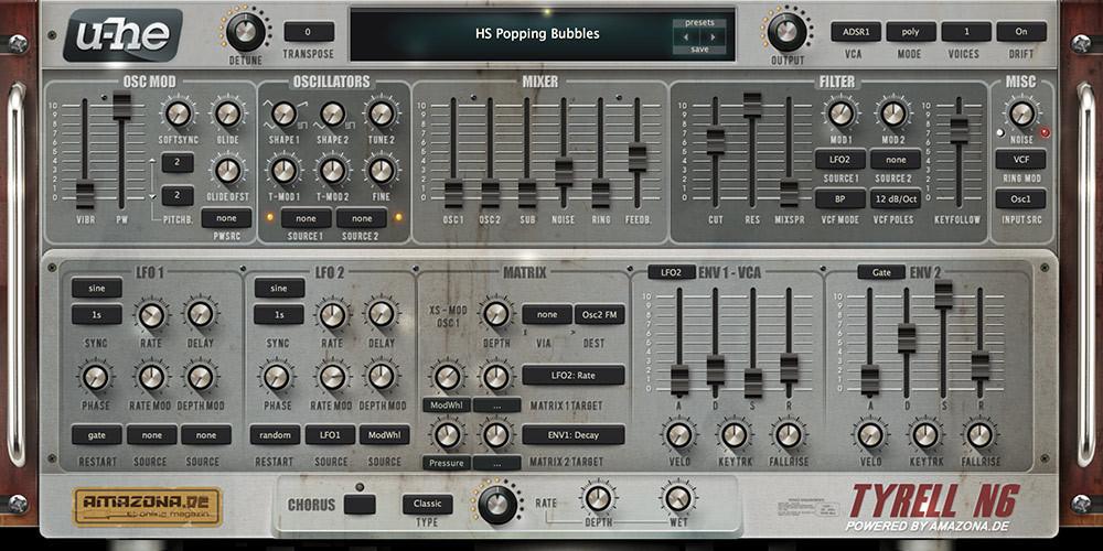 TyrellN6 U-He free synthesizer