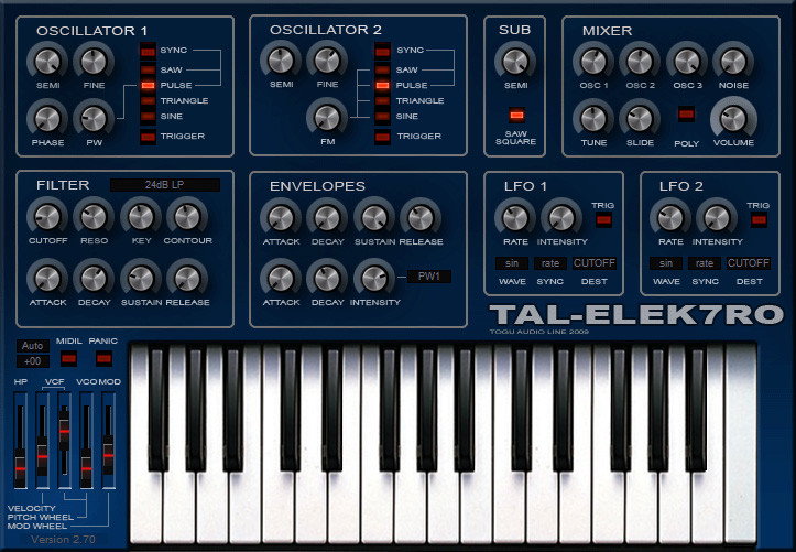 TAL Elek7ro free synthesizer
