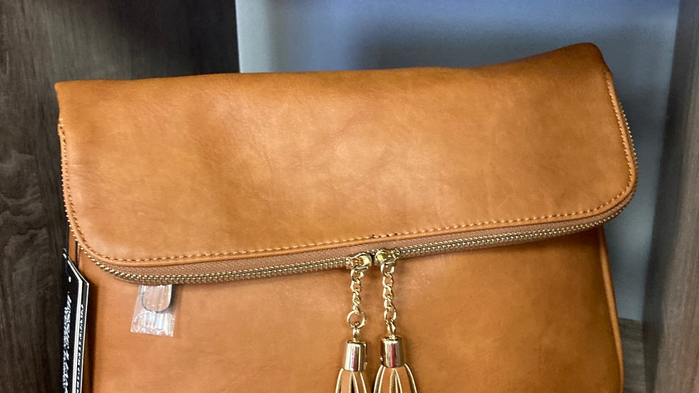 Light Brown Leather Concealed Carry Purse