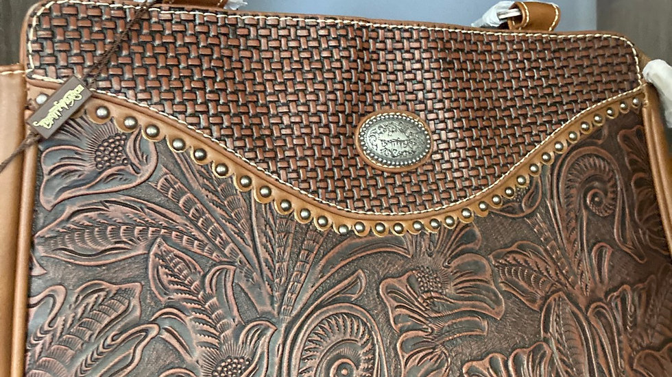 Brown Rainforest Leather Concealed Carry Purse