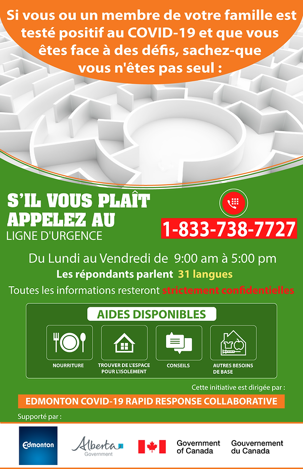 Edmonton COVID-19 Rapid Response Poster