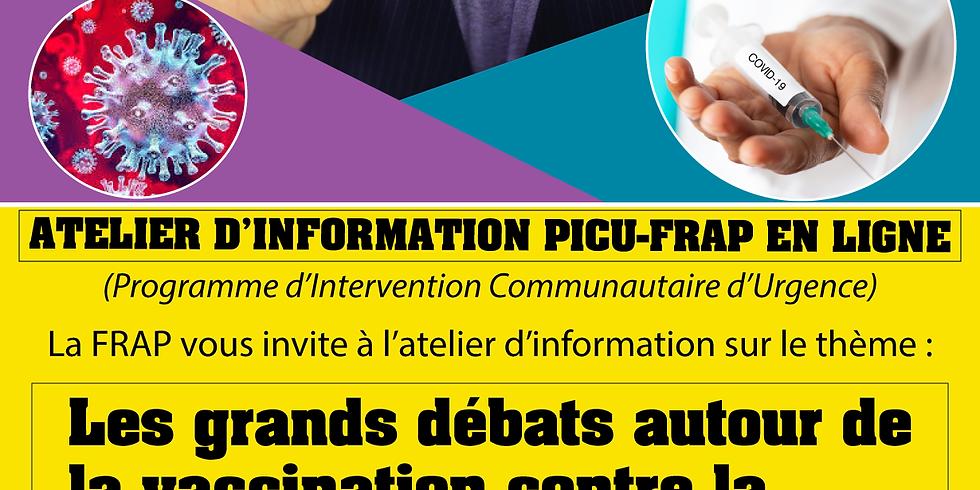 ATELIER D'INFORMATION EN LIGNE  - PICU FRAP