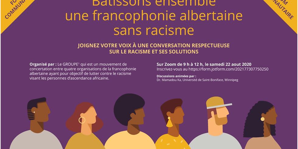 Forum communautaire organisé par le groupe de soutien contre le racisme