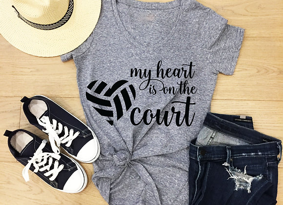 My HEART is on the Court - Volleyball