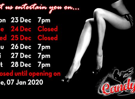 Holiday Schedule December 2019