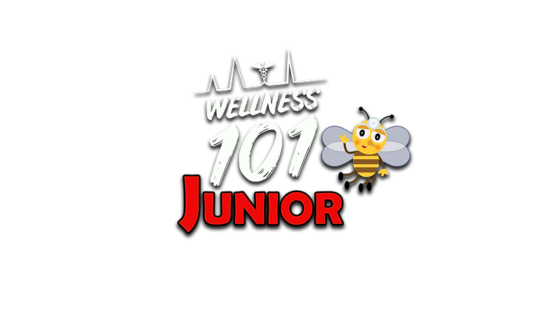 Wellness 101 Jr. Logo WHITE with DS.png