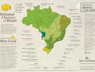 Mapa dos Queijos Artesanais de Leite Cru do Brasil
