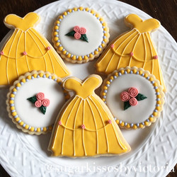 Beauty & The Beast Birthday Cookies