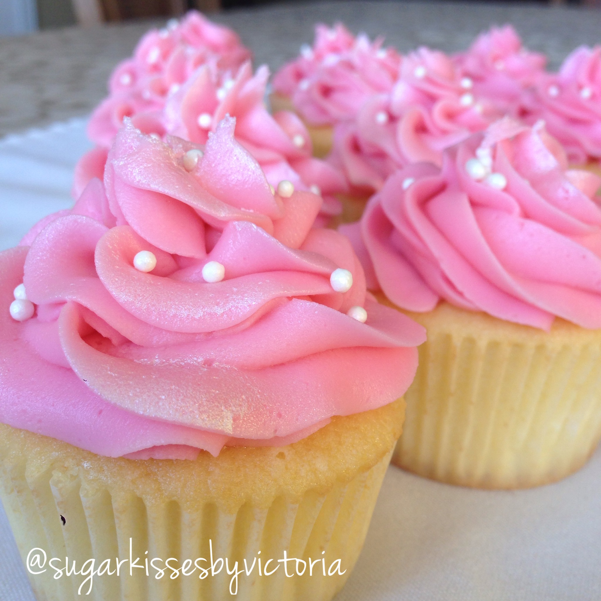 Little Girl Birthday Cupcakes