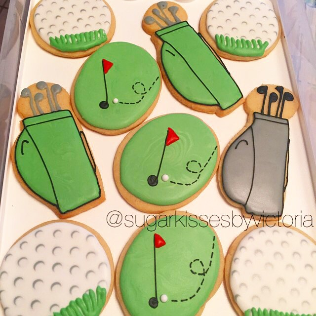 Golf Themed Sugar Cookies ⛳️#SugarCookies #Golf #GolfBalls #SportsTheme #GolfTheme #HudsonValleyBake
