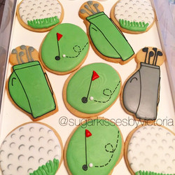 Golf Themed Sugar Cookies ⛳️#SugarCookies #Golf #GolfBalls #SportsTheme #GolfTheme #HudsonValleyBake