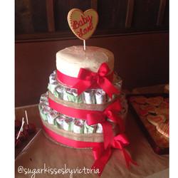 Diaper & Vanilla Cake