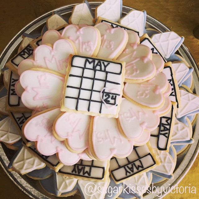 Bridal Shower Cookie Tray