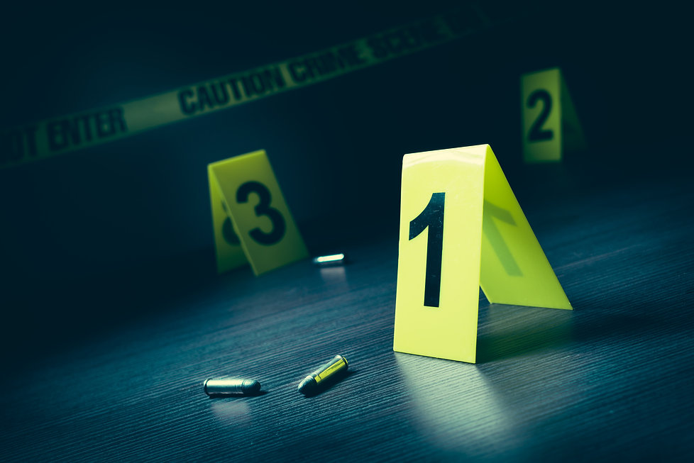 High contrast image of a crime scene with evidence markers.jpg