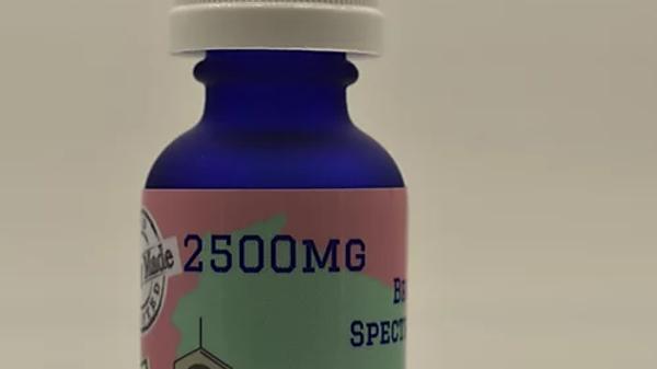 2500mg Broad Spectrum CBD Hemp Oil 30ml