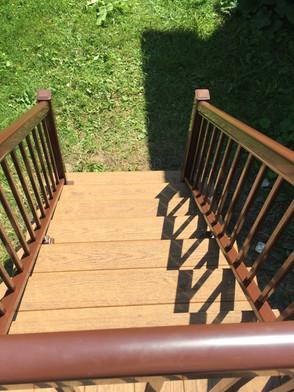 Rampe, Balcon planche de composite