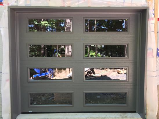 porte de garage vitré