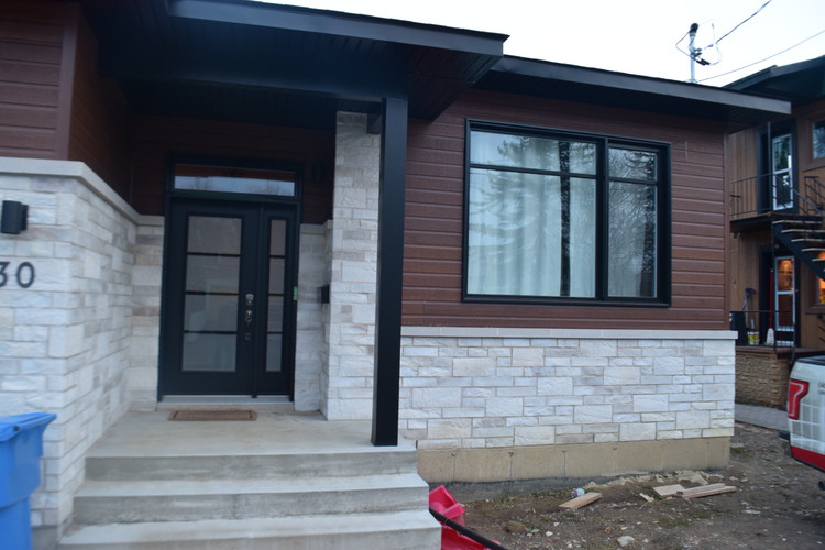 porte, colonne, fenêtre, revêtement