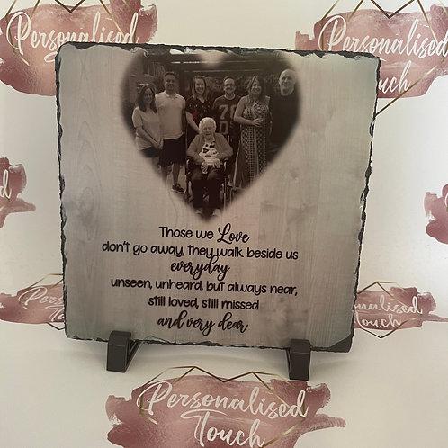 Memorial Photo Slate