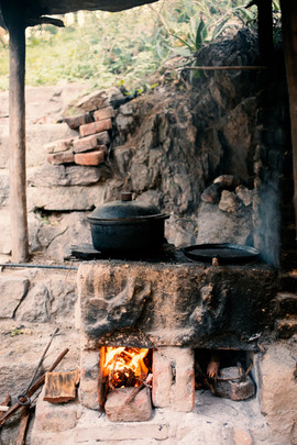 Avena en el fuego