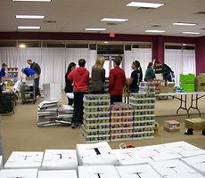Volunteers Celebrate By Giving