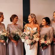 Bride and bridesmaid arrangments