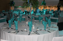 White Sequin Table Cloths