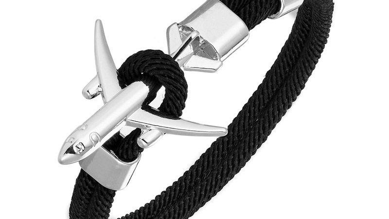 Fashion Airplane Anchor Bracelet