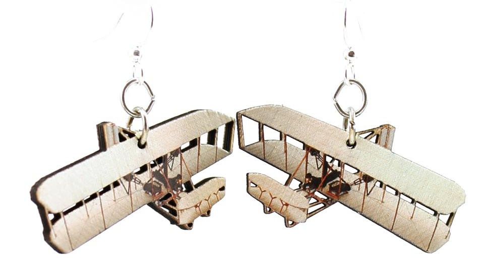 Wright Brothers Airplane Earrings