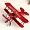 Thumbnail: Metal Plane Model Vintage Glider Biplane Mini Home Decor Aircraft