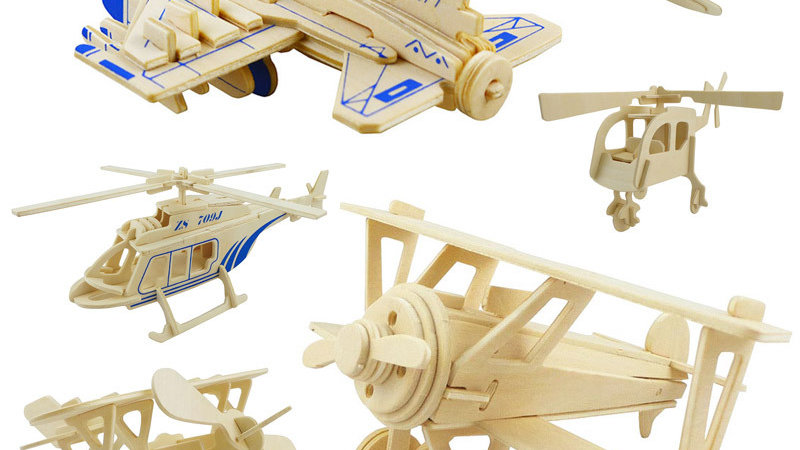 Wooden Puzzle 3D Stereo Puzzle Educational Toys DIY  Children Jigsaw Kids Toys
