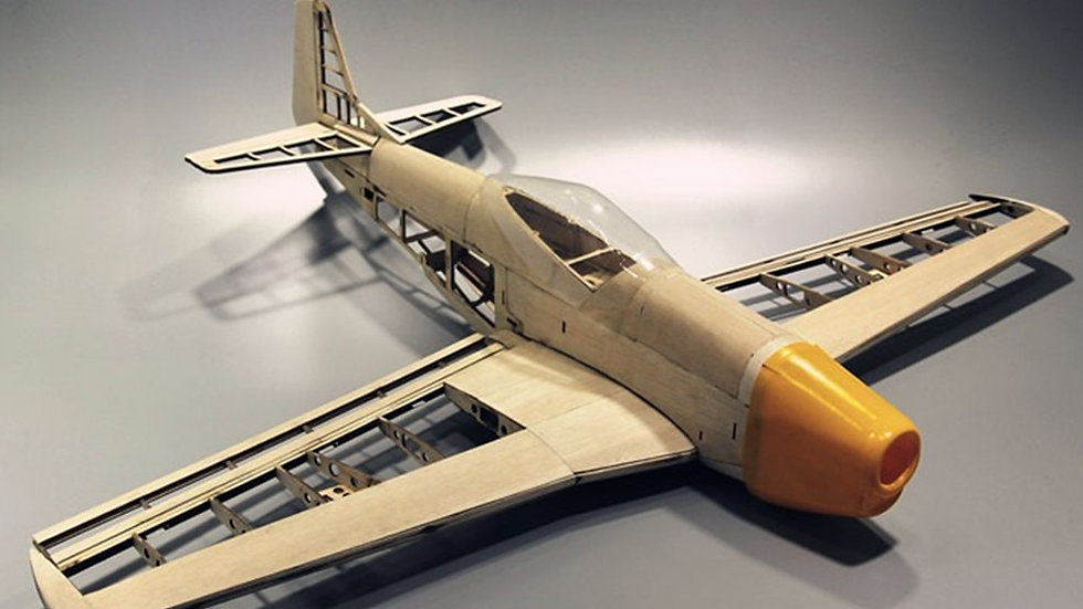 RC Plane Laser Cut Balsa Wood Airplane  Kit New P51 Frame Without Cover Wingspan