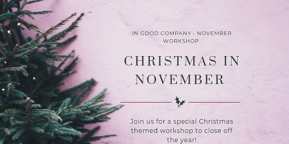 November || In Good Company | Petite Cake Decorating Workshop & Tea