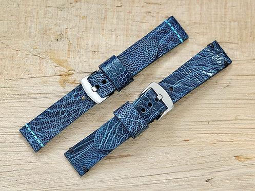 Straußenband blau 22mm