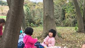 秋の里山へ園外保育