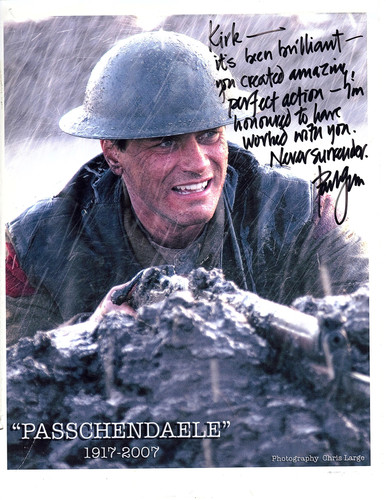 Working with Paul Gross on Passchendaele