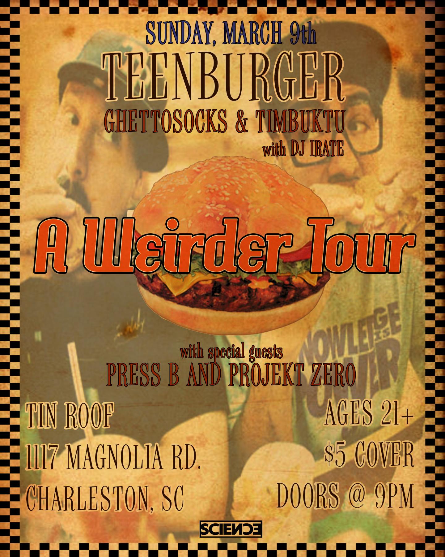 """""""Teenburger"""" Tour Poster"""