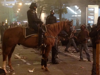 Mounted Riot Police