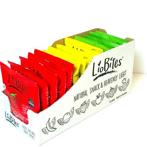 Box of LioBites Crisps 15 Packs- 3 Flavours - ( 5 of each flavour)