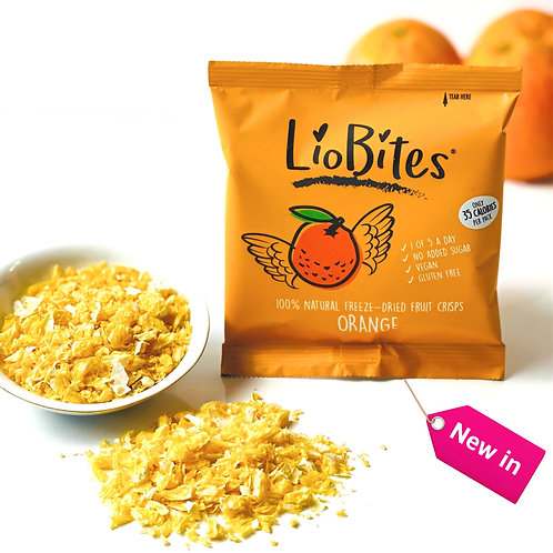 LioBites Freeze-Dried Crispy Orange Bits - Box of 15 Packs