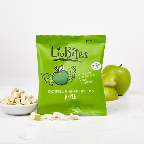 LioBites Freeze-dried Apple Crisps - Box of 15 Packs