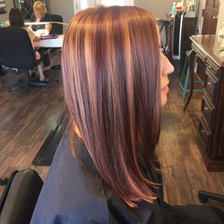 Red and Copper Highlights