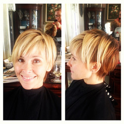 Blonde and Copper Pixie