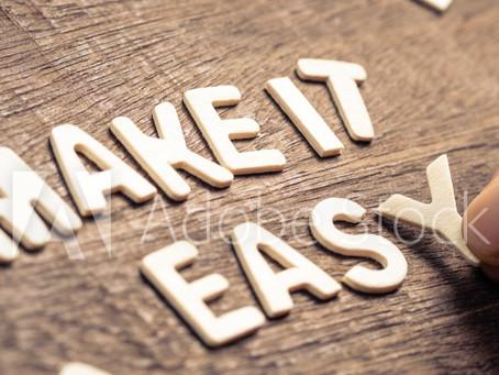 Maak het jezelf gemakkelijk - Stap voor stap