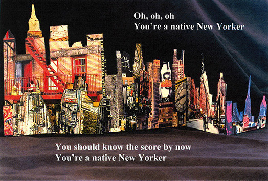 New York Collage with Quote