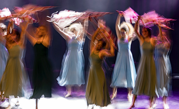 Blurred People Dancing