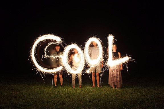 The word Cool in lights