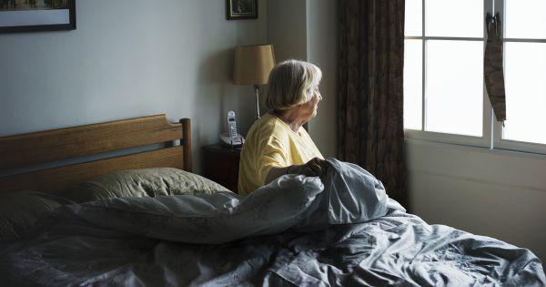Senior Citizen in bed