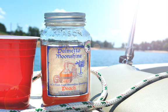 Palmetto Moonshine on a Boat
